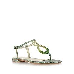 Nine West - Green 'zeonette2' flat t-bar sandals