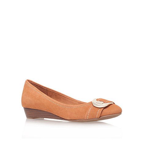 Anne Klein - Tan +ruthie+ low heel loafer shoes