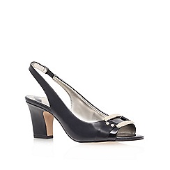 Anne Klein - Black 'urbain3' mid heel sling back shoes