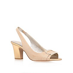 Anne Klein - Cream 'urbain3' mid heel sling back shoes