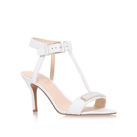 Nine West - White +gelosia+ mid heel sandals