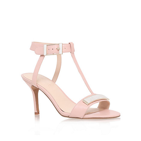 Nine West - Pink +gelosia+ mid heel sandals