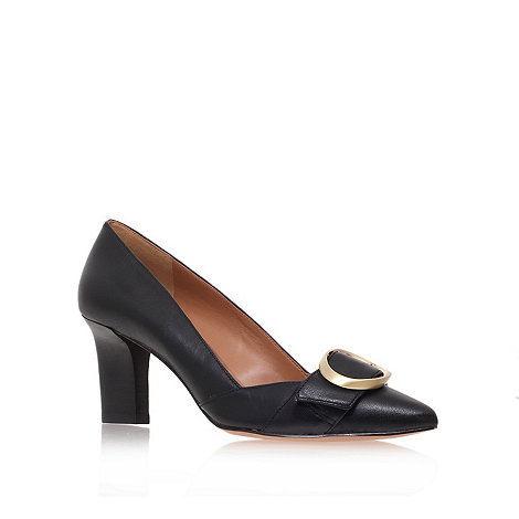 Nine West - Black +Mistina+ mid heel court shoes