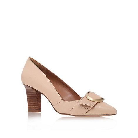 Nine West - Beige +Mistina+ mid heel court shoes
