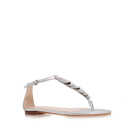 Nine West - Silver +Zacharia3+ flat t-bar sandals