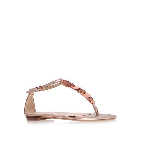 Nine West - Gold +Zacharia3+ flat t-bar sandals