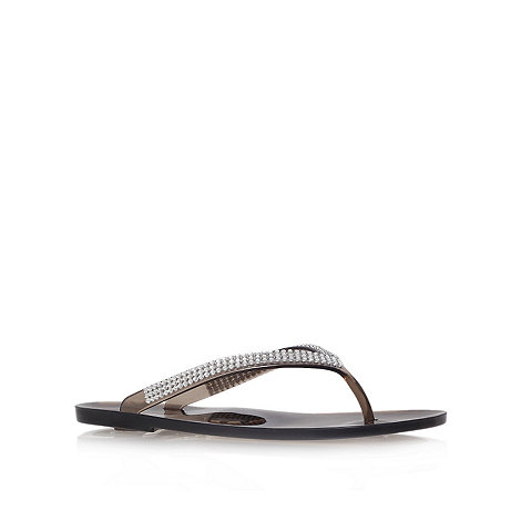Nine West - Black +ivjane3+ flat flip flops