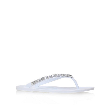 Nine West - White +ivyjane3+ flat flip flops