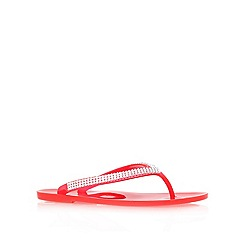 Nine West - Red 'ivyjane3' flat flip flops