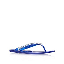 Nine West - Blue 'ivjane3' flat flip flops