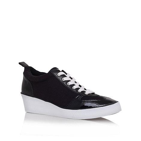 Nine West - Black +paisley7+ low heel wedge trainers