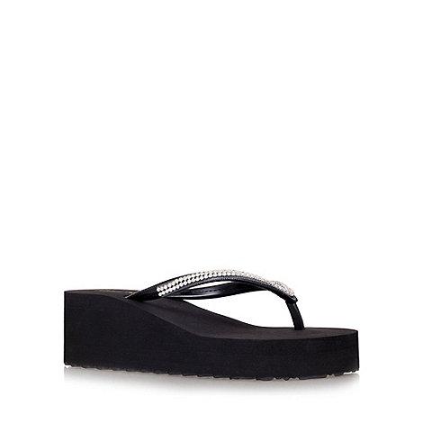 Miss KG - Black +Darcy+ platform flip flops