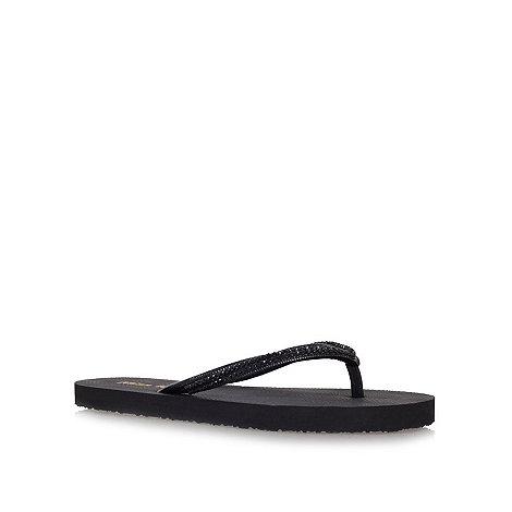 Miss KG - Black +Demi+ flat flip flops