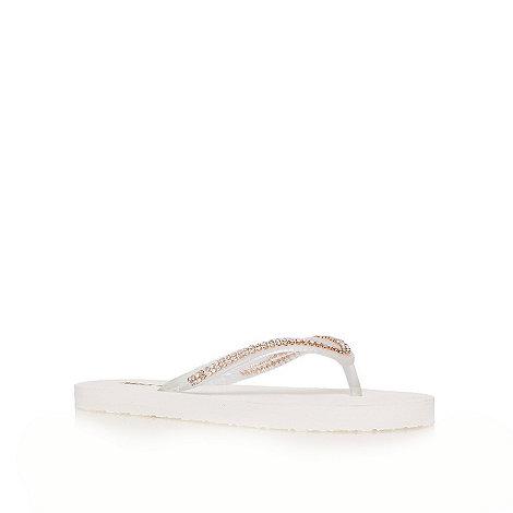 Miss KG - White +Demi+ flat flip flops