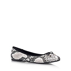 Miss KG - Grey Mixed 'NEL' Flat slip on pump