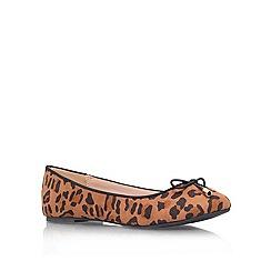 Miss KG - Tan 'Nel' flat ballerina shoes