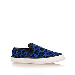 Carvela - Blue 'laurel' flat low top trainers