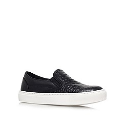 KG Kurt Geiger - Black 'londres' flat low-top trainers
