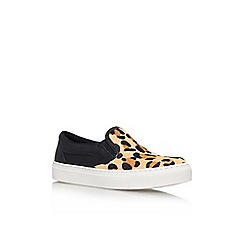 KG Kurt Geiger - Tan 'Londres' low-top trainers