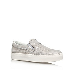 KG Kurt Geiger - Silver 'londres' flat low-top trainers