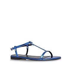 KG Kurt Geiger - Blue 'Match' flat sandals
