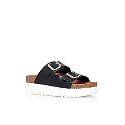 KG Kurt Geiger - Black 'Nola' low heel platform sandals