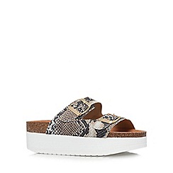 KG Kurt Geiger - Beige 'Nola' low heel platform sandals