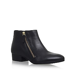 KG Kurt Geiger - Black 'Sally' low heel ankle boots