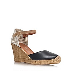 KG Kurt Geiger - Black 'Monty' high heel espadrille wedges