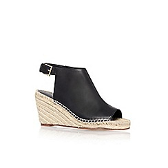 KG Kurt Geiger - Black 'Nelly' mid heel espadrille wedges