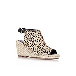 KG Kurt Geiger - Tan 'Nelly' mid heel espadrille wedges