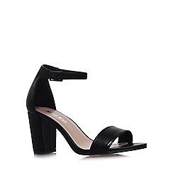 Miss KG - Black 'Paige' mid heel sandals