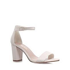 Miss KG - White 'Paige' mid heel sandals