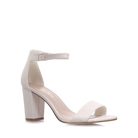 Miss KG - White +Paige+ mid heel sandals