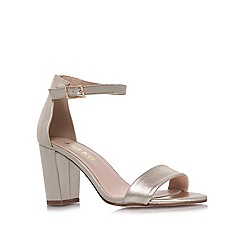 Miss KG - Gold 'Paige' high heel sandals