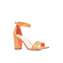 Miss KG - Orange 'Paige' mid heel ankle strap sandals