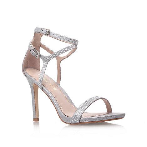 Miss KG - Silver +Emelie+ embellished high heel sandals