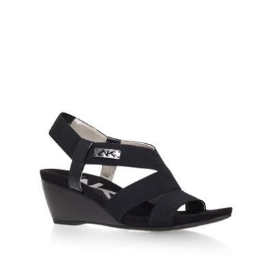 Anne Klein Black ´Cuinn2´ mid heel wedge sandals - . -