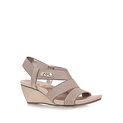 Anne Klein - Gold 'Cuinn2' Mid Heel Wedge Sandals