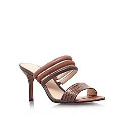 Nine West - Brown 'Gabyy' leather mid heel sandals