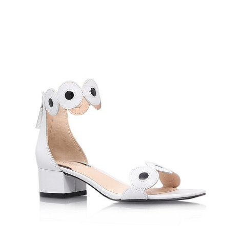 Nine West - White +Matchmade+ low heel sandals
