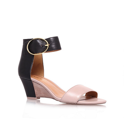 Nine West - Black 'Ventana' low heel wedge sandals