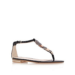 Nine West - Black 'zacharia' flat t-bar sandals