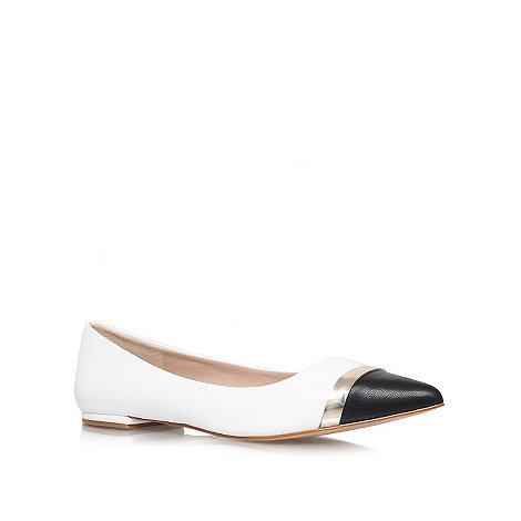 Carvela - White +Lyric+ flat slipper shoes