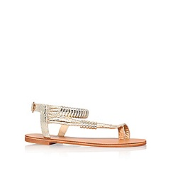 Carvela - Gold 'Klipper' flat sandals