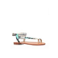 Carvela - Turqoise 'Klipper' flat strappy sandal