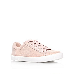 Carvela - Nude 'Lock' flat low top trainers