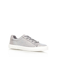 Carvela - Silver 'LOCK' Flat lace up sneaker