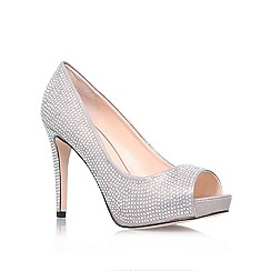 Carvela - Silver 'Grind' high heel court shoes