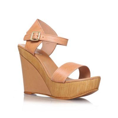 Carvela Beige ´knave´ high heel wedge sandals - . -